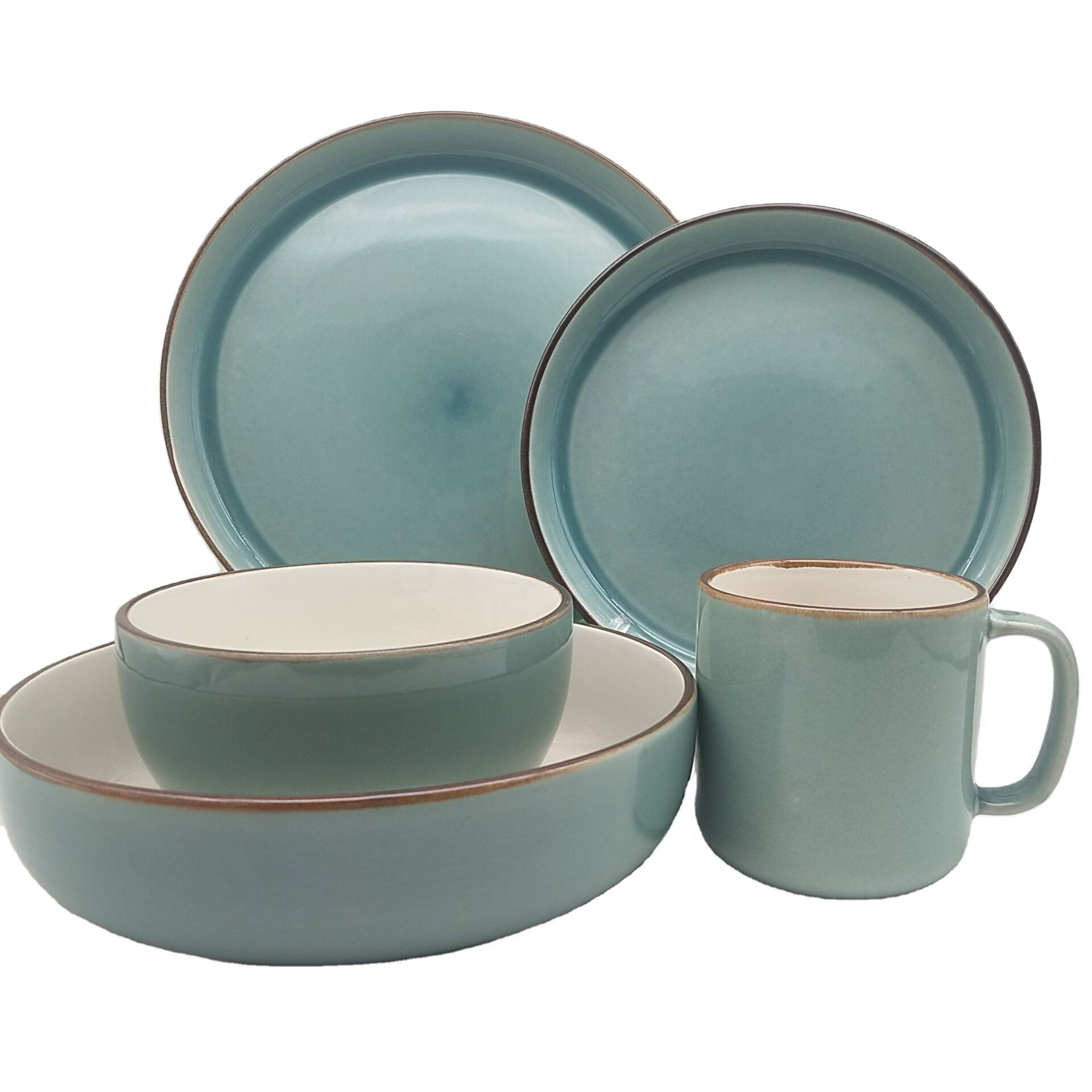 hot sale wholesale cheap green dinnerware ceramic dinnerware sets tableware dinner set