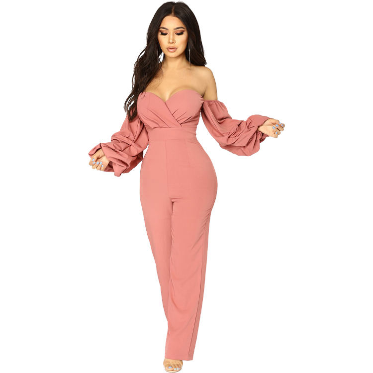 Wholesale Europe style adult one piece sexy off shoulder ladies jumpsuit