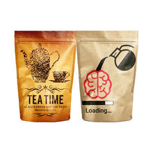 Kleine Papier Tasche Foil Lined Tea Packaging Zip Lock Ziplock Snack Package Bag Stand Up Pouch With Zipper