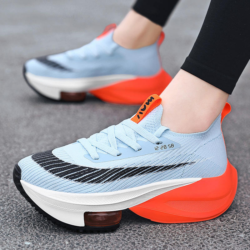 Lady Sneakers Sport Shoes Women Double Sole 2 Tone Air Cushion Running Casual Platform Chunky Tennis Pumps 2021 New Arrivals
