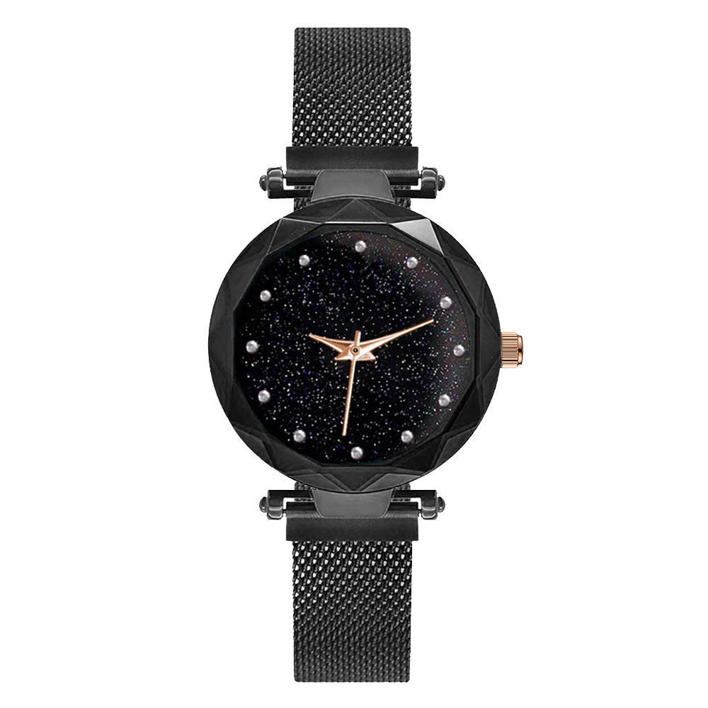Drop shipping Cheap Luxury Diamond Starry Sky Watch Fashion Custom Logo Private Label Magnetic Strap Lady Wrist Watch
