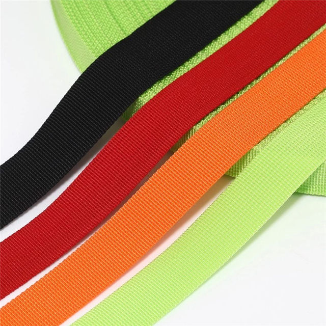Customized width colored color webbing by 100% PP Polypropylene yarn