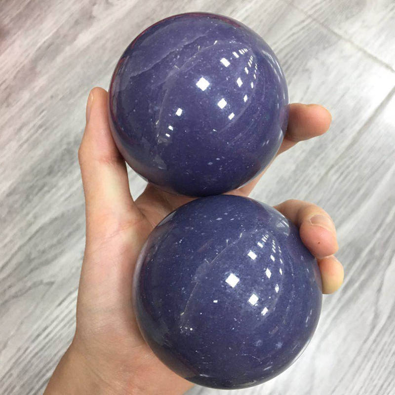 High Quality Natural Purple Mica Sphere Lepidolite Ball For Decoration and Reiki Healing