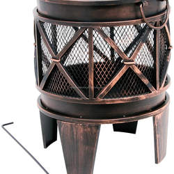 Garden Patio Fire Pit Bowl with Poker