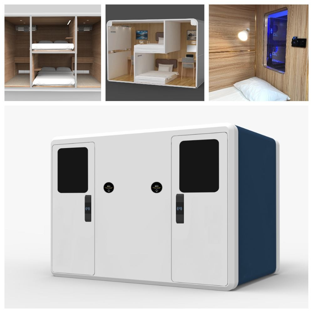 WIMI Factory Supply Wooden Space Save Capsule Bed Hotel Sleeping Pods Sleep Cabin Nap Cab SleepBox Office Pod