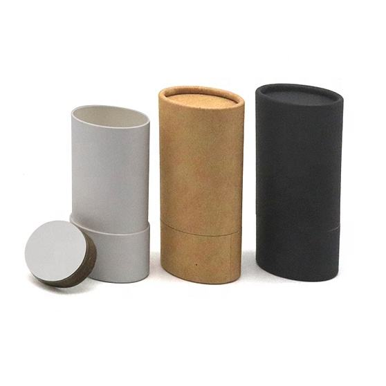 Custom Eco Friendly Deodorant Stick Packaging Oval Cardboard Container Empty Kraft Paper Tube