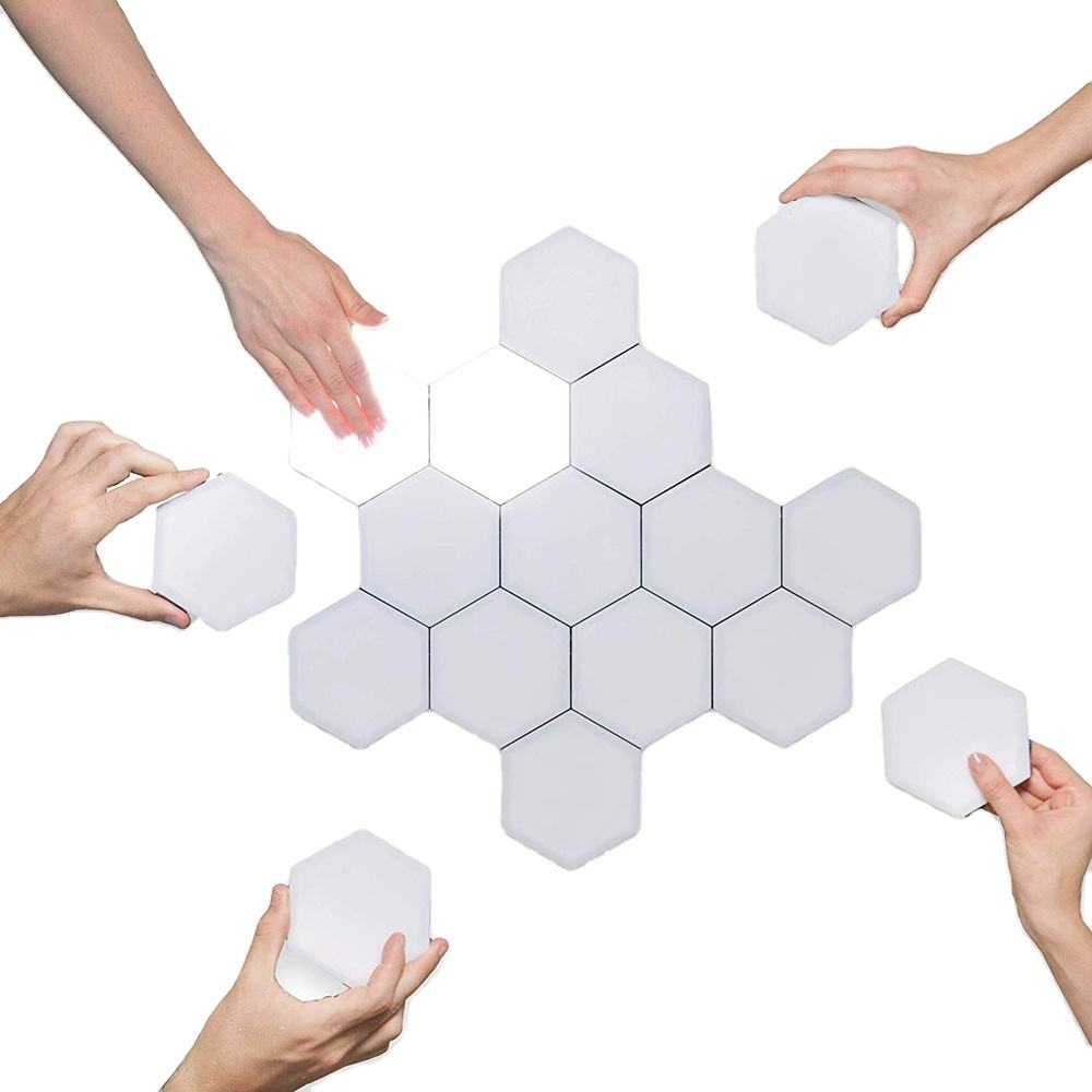 Hexagon Lights Touch DIY Magnetic Modular Sensitive Hexagons Wall Light Finger Touch Night Lights