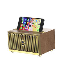 2020 Amazon Best Sellers Portable  Horn Subwoofer Speaker OneDer V6 BT Wooden Speaker