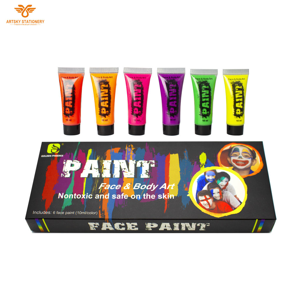Face Paint Kit for Kids Professional Quality Face & Body Paint, Hypoallergenic Safe & Non-Toxic, Easy to Painting and Washing