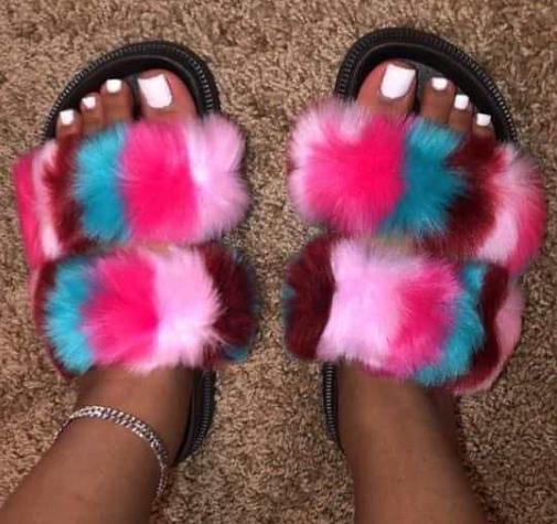 2021 newest Ladies Slides summer platform black sandals for women