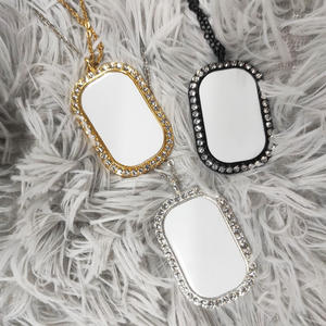 RubySub SL-07 Sublimation Blanks Metal Necklace Sublimation Jewelry Oval Shape Pendant Blanks for Custom Promotion Gifts