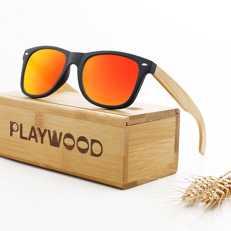 Custom Logo Bamboo Wood Sunglasses Polarized CE
