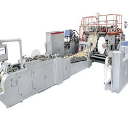 WFD430 Fully Automatic Roll Fed Square Bottom mechanical paper bag machine Diameter of Twisted Rope 4-6mm