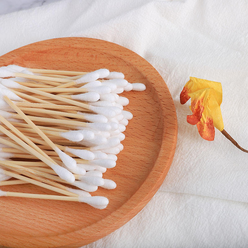 High Quality Eco Friendly Bamboo Cotton Ear Swab Bamboo Cotton Buds