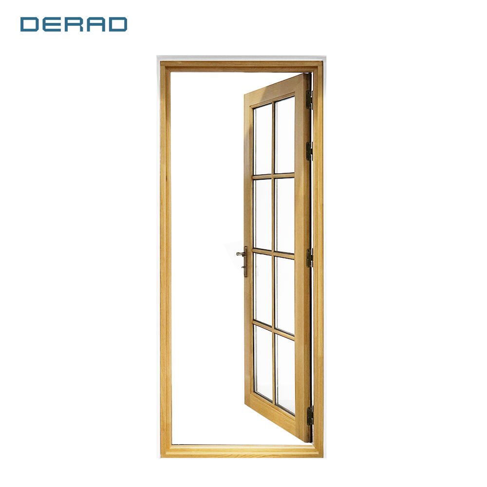 DERAD American Aluminium Clad Wood Outward Opening Door With thermal glazed
