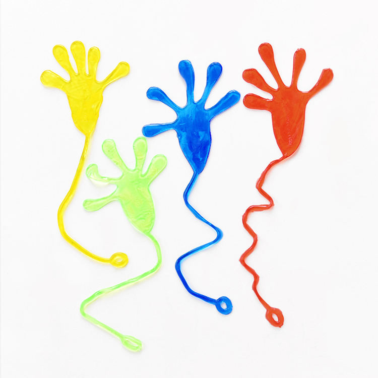 2020 Novelty Promotional Tpr Plastic Sticky Hands Yoyo Toys Sticky Wall Toy For Kids