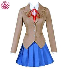 Doki Doki Literature Club Monika Cosplay Sayori Yuri Natsuki Cosplay Costume School Uniform Girl Women Costume Game Cos