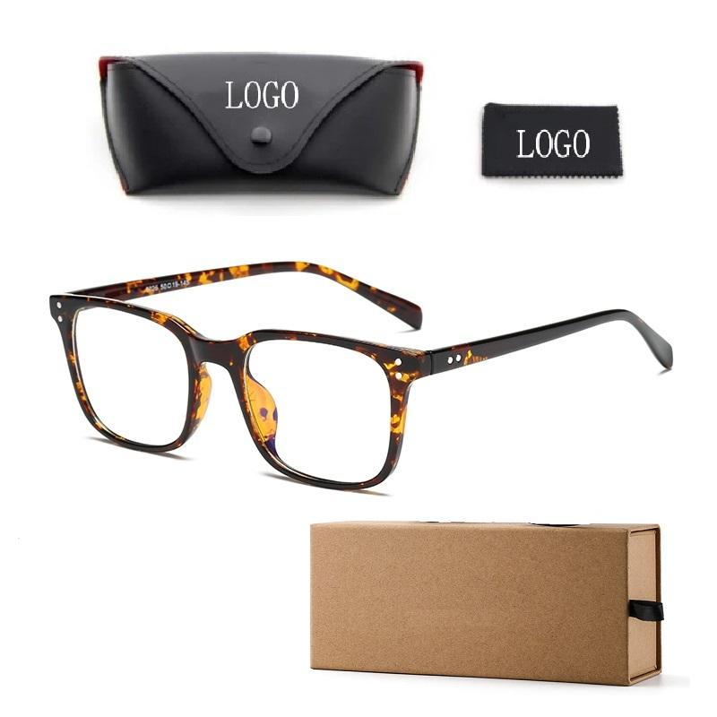 New Arrivals TR90 Anti Blue Blocking Computer Glasses Square Frame Man Woman Glasses Fashion 5025 Classic Design Optics