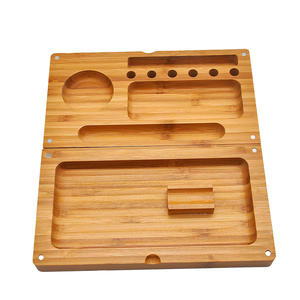 Free Sample Custom Logo Tobacco Weed Wood Smoking Rolling Tray