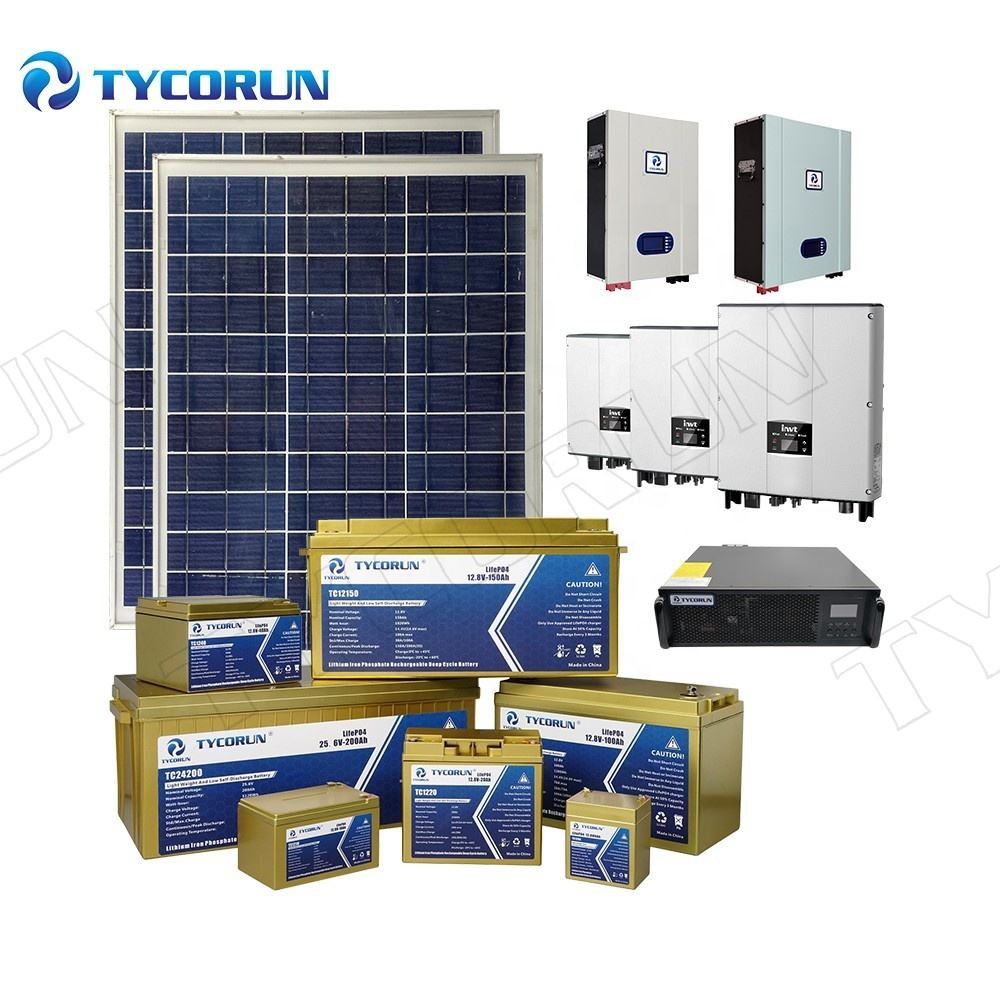 Tycorun Home Off Grid Solar Panel System Inverter Power System 5kw 10kw 20kw solar energy system for home