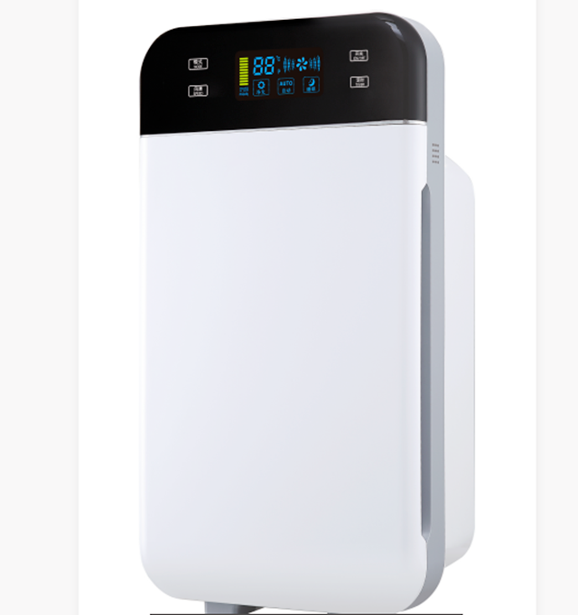 LED display air purifier with copper motor for home