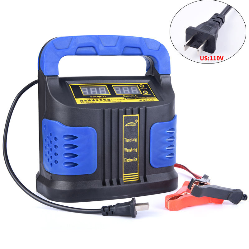 Auto Plus Menyesuaikan LCD Battery Charger 12 V-24 V Mobil Booster 350W 14A