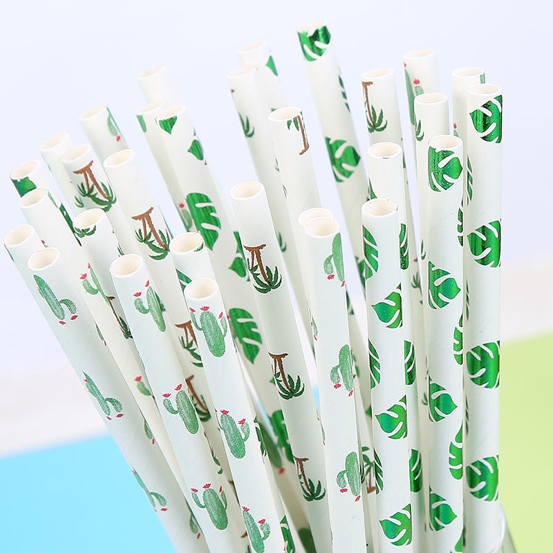 Drinking Paper Straws 25pcs Creative Drinking Paper Straws Halloween Baby Shower bachelor children birthday party decorations