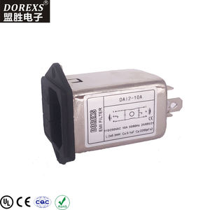 IEC Socket Filter With One or Two Fuse EMI Filter Professional manufacturer best quality