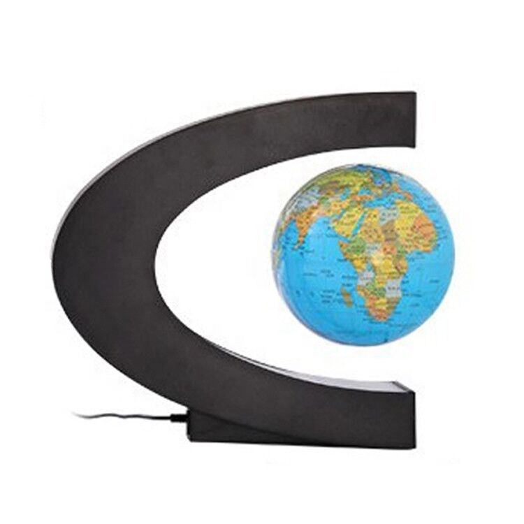 hot sale custom map shape magnetic levitating floating rotation globe for home school