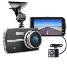 Dual Dash Cam Front and Rear 1080p Full HD Car DVR Dashboard Camera Recorder 4 inch IPS Screen Parking Monitor Night Vision