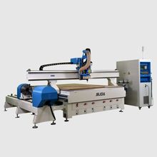 SUDA Professional MG 1325 2030 8 Tools ATC Cutting Carving Engraving CNC Router Machine With Rotary Axis