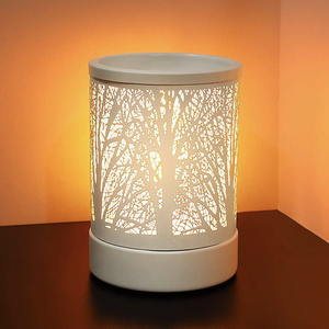 Wholesale cheap LED electric heating fragrance essential oil burner ceramic aroma lamp