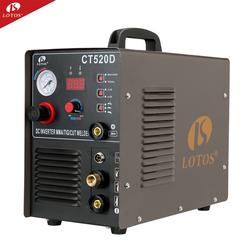 lotos ct520d portable air plasma cutter/tig/stick welder 3 in 1 tig/mma welding machine dc inverter 200a hangzhou