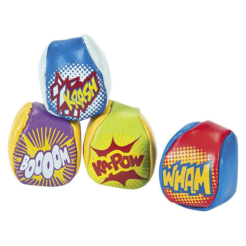 EN71 bulk 2 panel custom logo printing sand pu leather hacky sacks for children