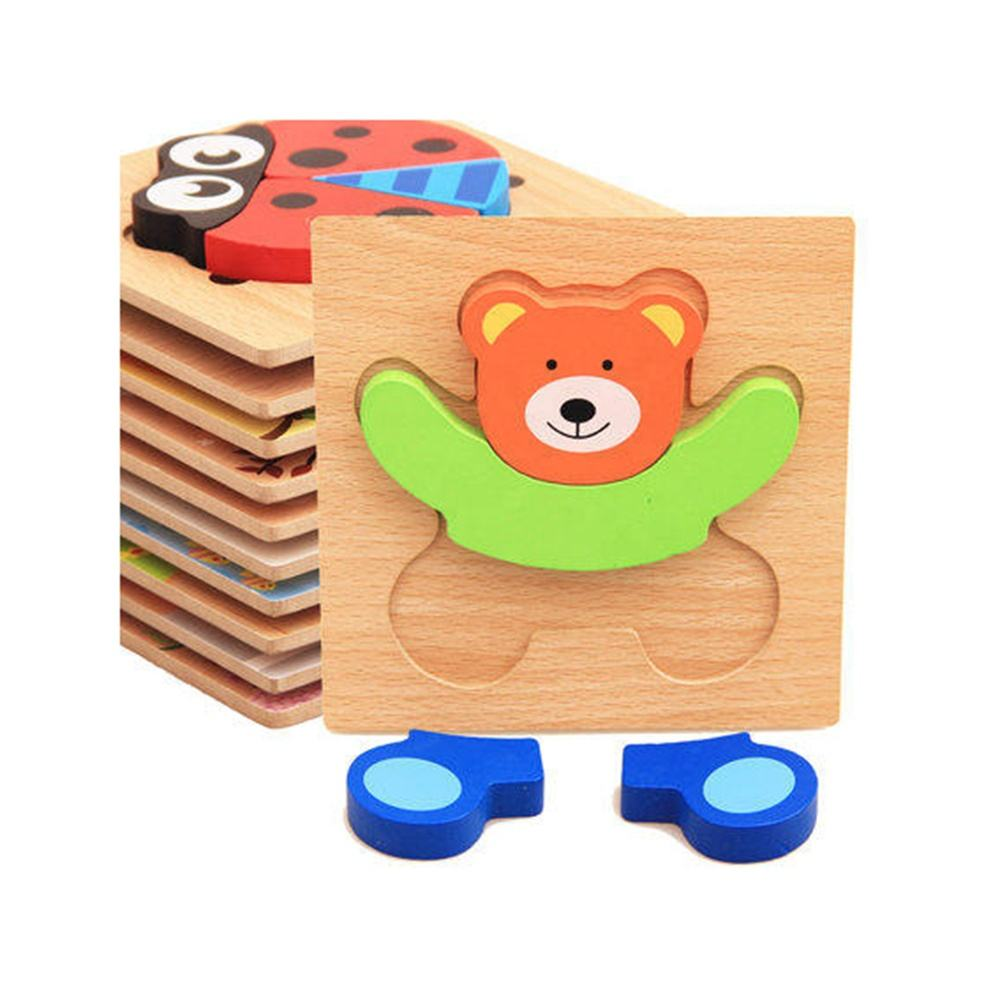 ASTM Diy Cardboard Wooden Animal Jigsaw Puzzle 3 D Animal Shape Puzzle Jigsaw For Kids