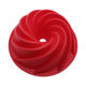 Custom Giant Big Silicone Spiral Cake Moulds Round Sparial Silicone Baking Cake Molds BPA Free Silicone Bundt Pan
