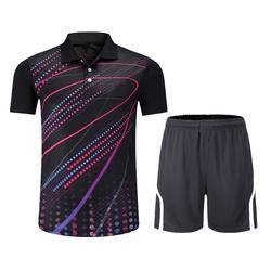 Wholesale Custom Sublimation Printing set Quick Dry Short Sleeve Cheap Wear table Tennis Clothes