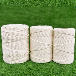 Wholesale 3mm 100% natural cotton rope DIY cotton macrame kit twisted cotton rope Christmas decoration rope 200meters/roll