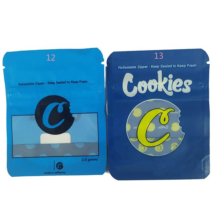 Custom Cookies California 3.5g Mylar bags Gelatti Cereal Milk Gary Payton London Pound cake Bag for Dry Herb