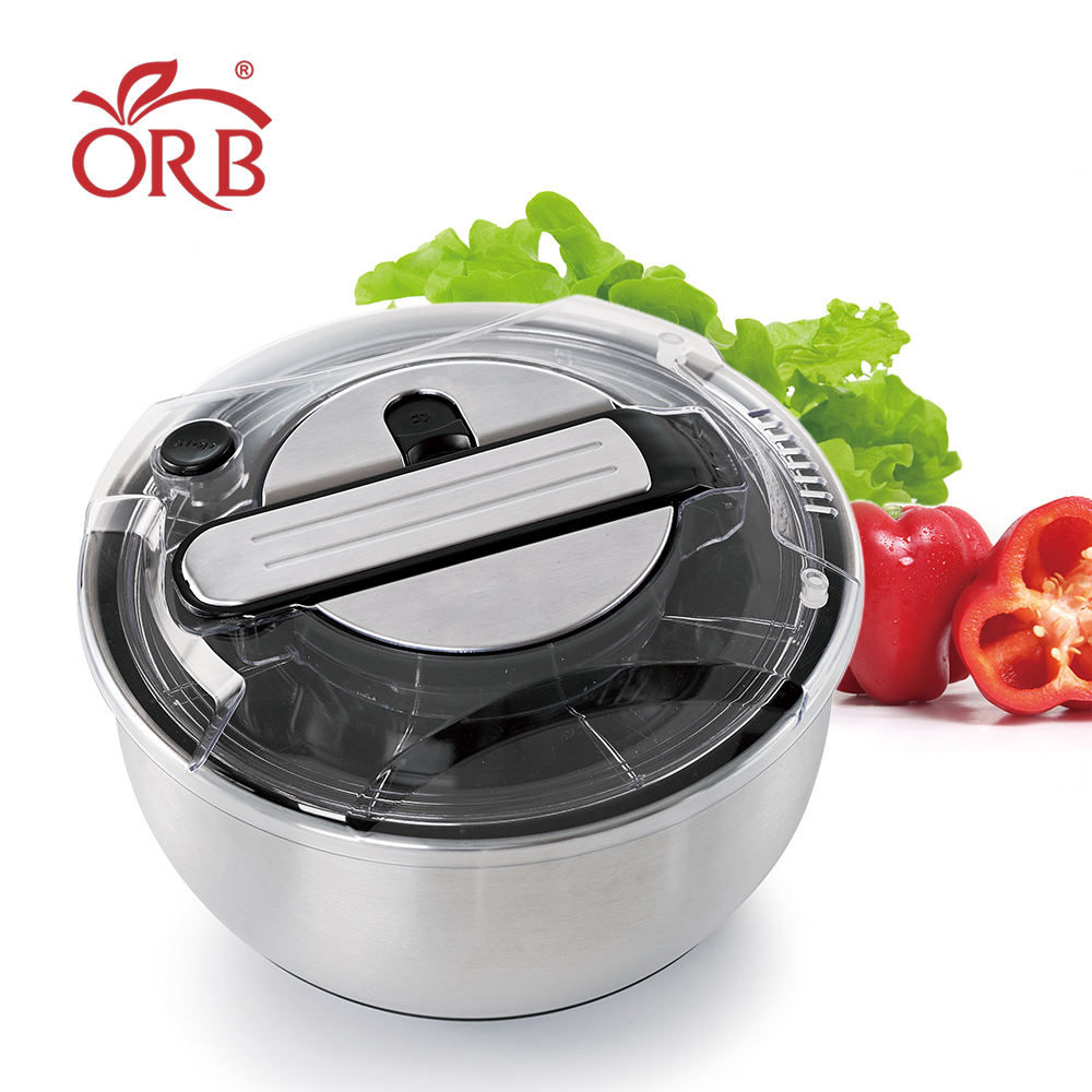 Kitchen prssing stainless steel 5l salad spinner