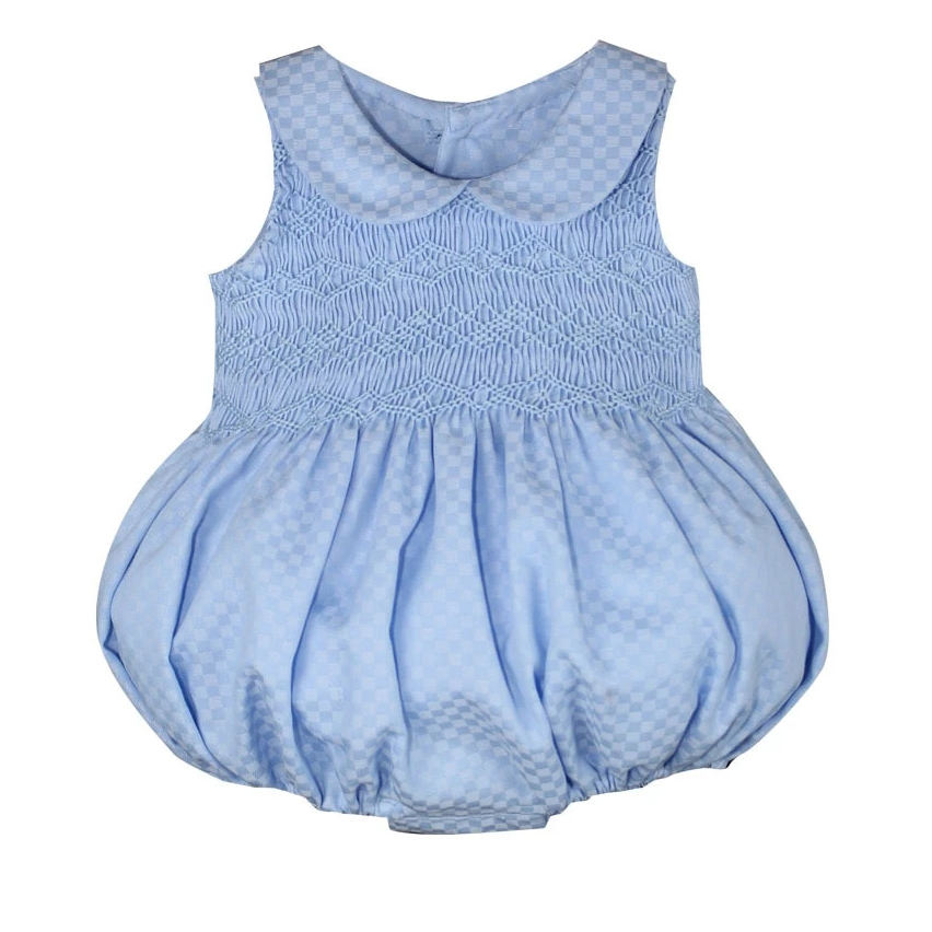Toddler boutique clothes high quality embroidered vintage Baby Smocked Romper
