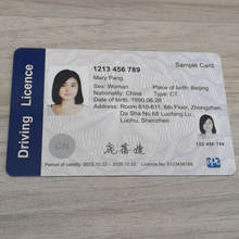 Bio Degradable Teslin Synthetic Material Photo ID Card for Driving License