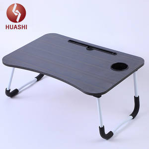 Modern Wooden Computer Desk Folding Laptop Stand in Bed iPad/Tablet