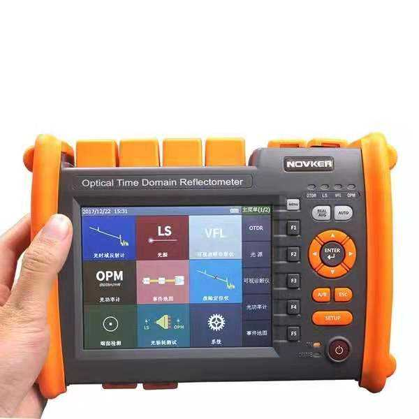 New Genuine NOVKER NK5600 OTDR 30/32dB 1310/Multifunções 1550nm Optical Time Domain Reflectometer Com VFL OPM Luz fonte