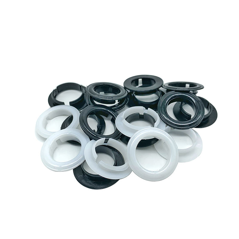 Plastic eyelet grommet for curtain shoe bag garment accessories hight quality plastic eyelet and grommet