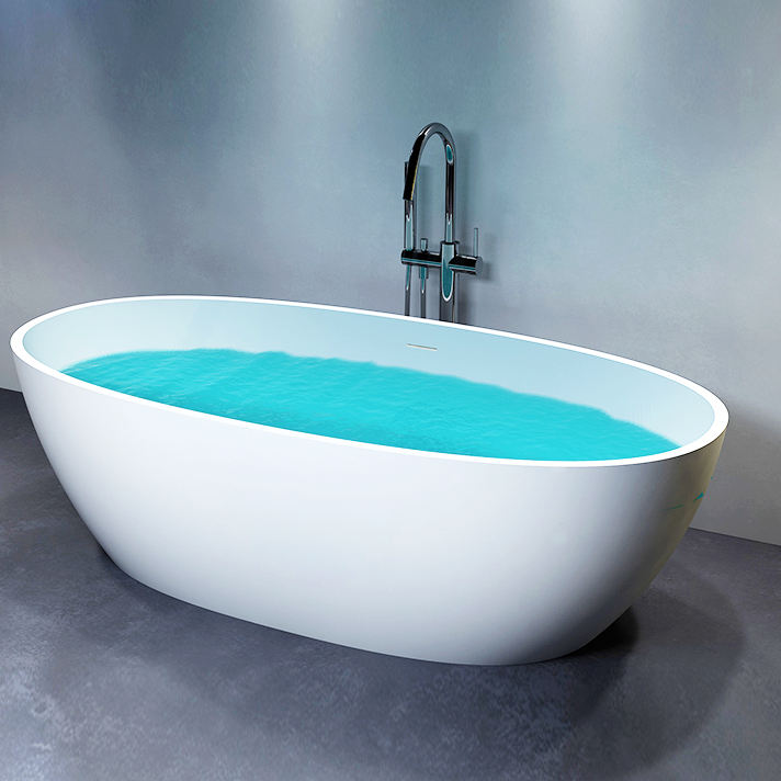 Customize Size Repairable CUPC Bath Tub Adult Luxury Soaking Solid Surface Freestanding Bathtubs