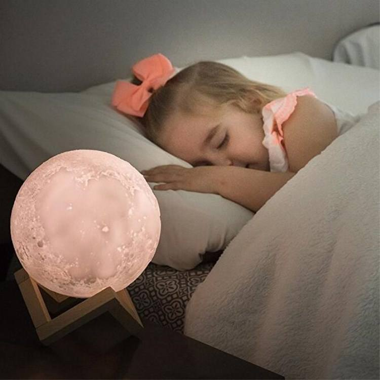 Eco-friendly Night Lamp Hot Sale Moon Lamp For Home Decor Rechargeable Moon Night Light 15cm