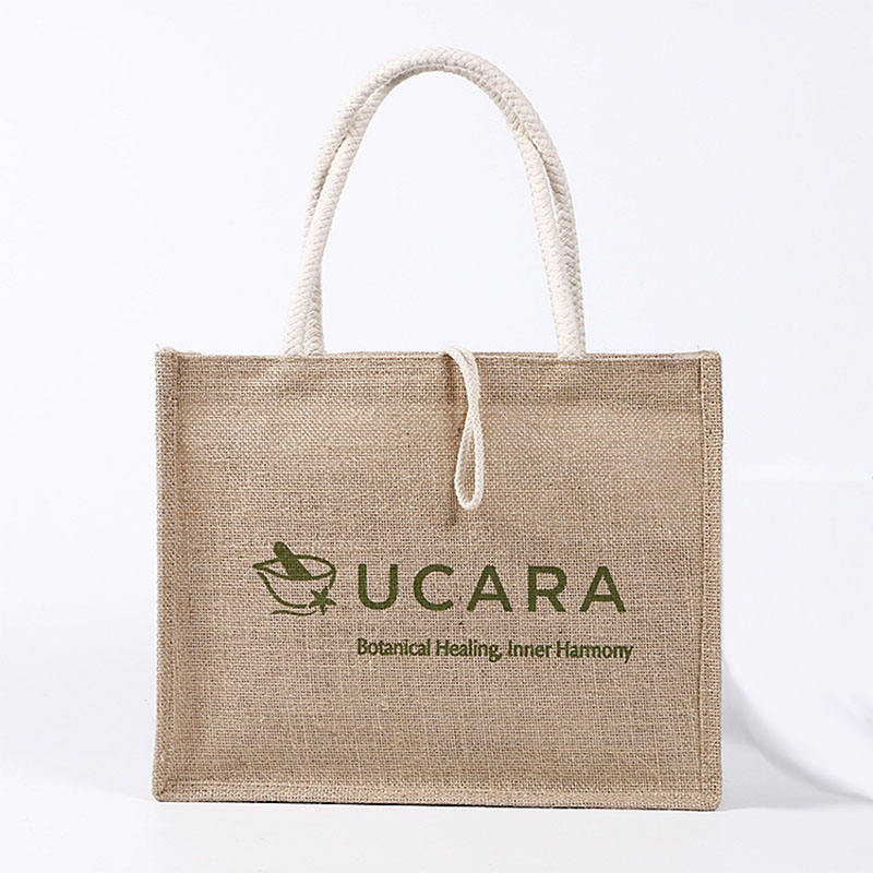 top quality eco 100% jute tote bag strong shopping bag