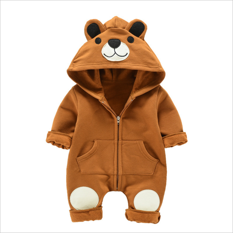 cute bear hoodie baby clothes romper custom cheap infant & toddlers clothing romper
