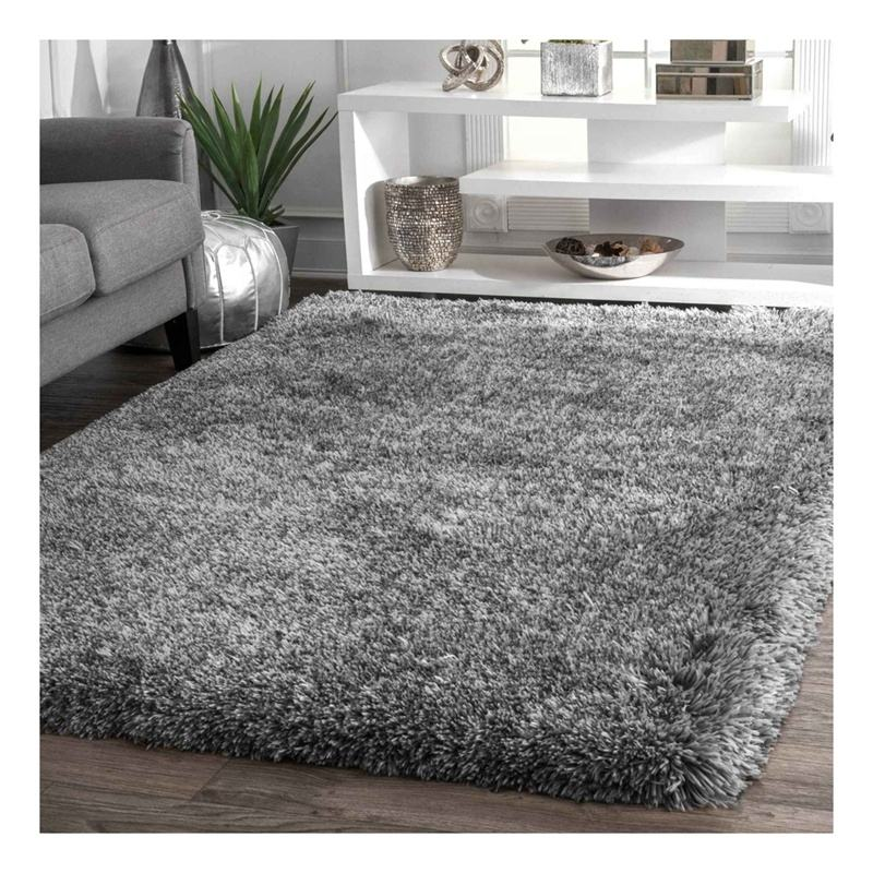Polyester 6cm 7cm long pile super soft grey colour shaggy shag carpet area rug ,shaggy carpets rugs for living room bed room